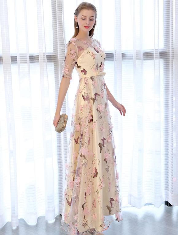 Long Sleeve Butterfly Dress