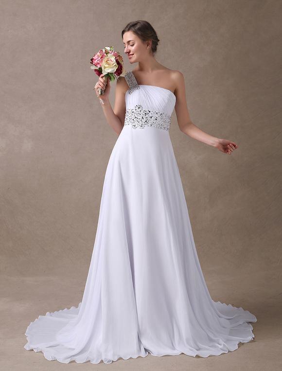 Summer Wedding Dresses with One Shoulder