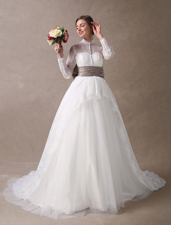 vestidos de novia de la princesa vestidos de bola de encaje vestido