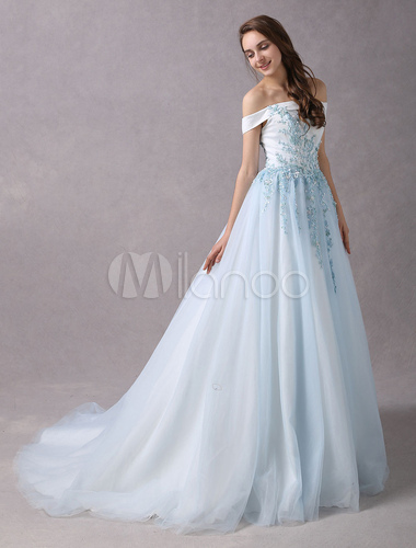 Vestidos largos azul pastel
