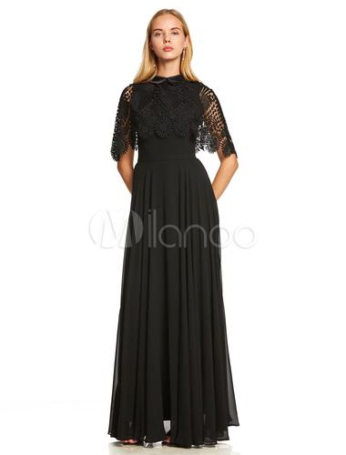 3c33fdaf9d948 ... أسود فساتين حفلة موسيقية بالاضافة الى حجم الرباط طويل الشيفون طول  الكلمة الرسمية مساء حزب اللباس. 123