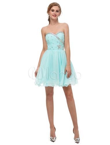 Vestido fiesta azul pastel