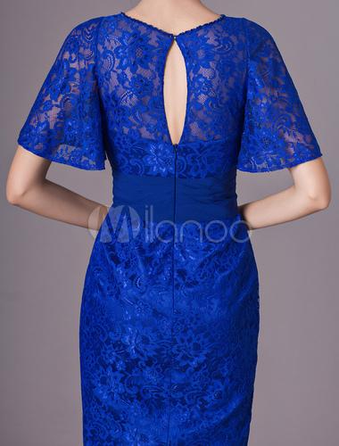 6baa12ab907 ... Mother Of The Bride Dresses Lace Short Royal Blue Cocktail Dress Sheath  Keyhole Knee Length Wedding ...