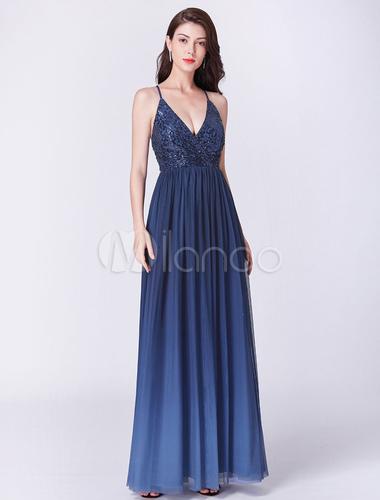 robes de demoiselle d 39 honneur longue robe de bal bleu royal. Black Bedroom Furniture Sets. Home Design Ideas