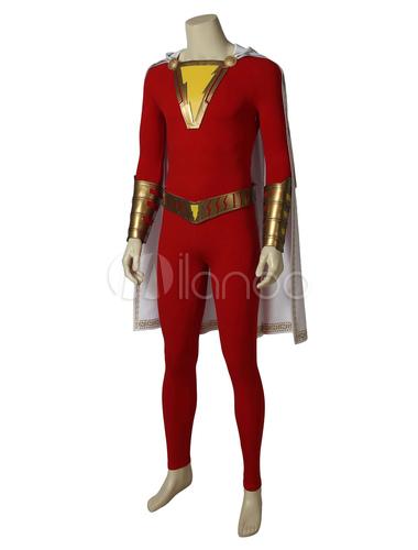 71d8cce46b3a DC Comics Captain Marvel Shazam Costume Cosplay - Milanoo.com