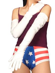 Disfraz Carnaval PVC, guantes blancos hasta los hombros Halloween Carnaval