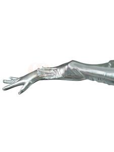لامعة لامع الفضة طول الكتف قفازات هالوين
