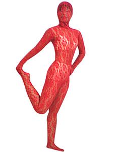 全身タイツ,ベルベット 大人用 女性用 レッド コスチューム衣装 コスプレ  ハロウィン