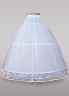 Sottogonna da sposa con 2 strati  e 2-guardinfanti plastica da ballo bianca in organza