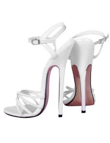 6 3/10 ' High Heel Patent caviglia Cinturini Sandali Sexy