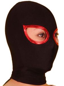 Черный открытый глаз Lycra Spandex Худ Хэллоуин