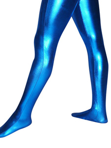 Shiny Stockings Blue Metallic Halloween