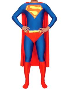 Clássico Azul e Vermelho Catsuit super-herói Superman Halloween