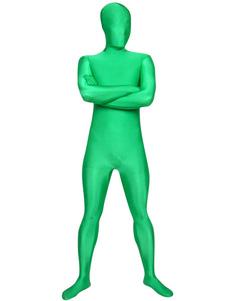 全身タイツ グリーン ユニセックス 大人用 ボディスーツ ライクラ・スパンデックス ジャンプスーツ フルボディ  ハロウィン