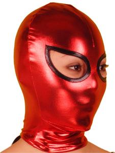 Красное и черное открытый глаз блестящих металлических Худ Хэллоуин