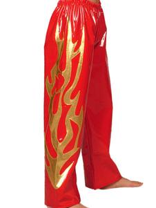 Красный и Золотой ПВХ, борьба брюки Хэллоуин