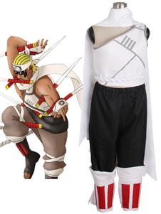 Costume Carnevale Naruto Killer Bee cosplay costume con guanti e copriscarpe