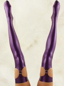 ストッキング,全身タイツアクセサリー 紫色 コスチューム セクシー 仮装パーティー ハロウィン