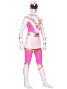 الوردي حارس الطاقة Zentai البدلة هالوين سوبر بطل زي هالوين