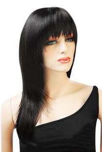 60см Прямой Chic в черном парике моды