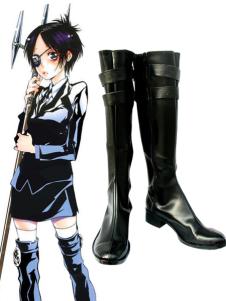 قاتل تولد من جديد كروم Dokuro قلد جلدية المطاط أحذية تأثيري هالوين
