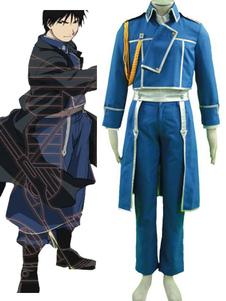 Disfraz Carnaval Fullmetal Alchemist Mustang traje de cosplay uniforme Carnaval