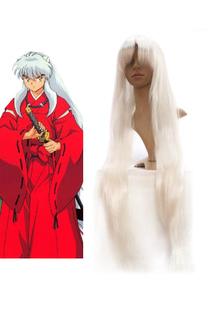 Carnaval Pluca de color blanco para cosplay de InuYasha Halloween