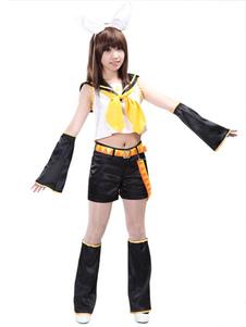Disfraz Carnaval Traje de Kagamine Rin para cosplay de VOCALOID Halloween Carnaval