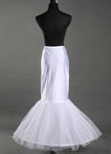 Белый 90 см чистой лайкра Русалка труба Тыле новобрачных свадьба Petticoat
