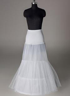 Sottogonna da sposa con 2 strati  e 2-guardinfanti a sirena bianca lycra per cerimonia