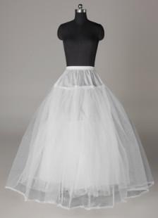 Sottogonna da sposa da ballo con tri-strato bianca in tulle