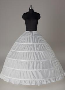 Enagua de boda 2020 Bottoms de Mujer de tafetán blanco con una capa