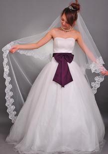 حجاب زفاف مطرز من طبقتين (300 * 150 سم)