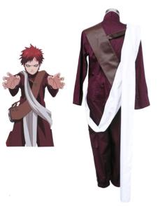 Costume Carnevale Naruto Gaara 3 ° Costume cosplay costume in poliestere con sciarpa