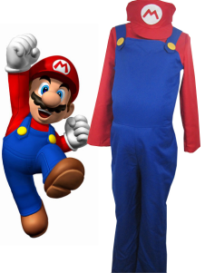 Super Mario Bros Mario Косплей Костюм Хэллоуин Костюм Валуиджи