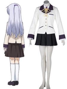 Angel Beats Angel/Kanade Tachibana 65% algodão 35% poliéster Cosplay Fantasia Halloween