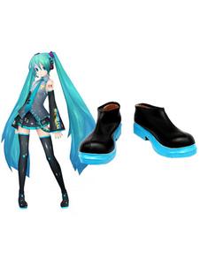 Стильный Vocaloid Хацунэ Мику подражал косплей обувь Хэллоуин
