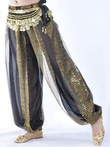 Брюки для танца живота Широкие штаны из искусственного шелка Болливудские танцевальные брюки