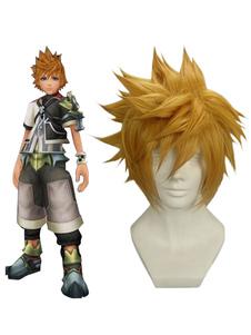 Золотой 32см Kingdom Hearts рождения сном-Ventus Парик Cosplay нейлон Хэллоуин