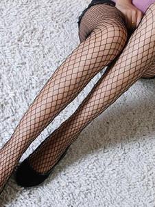 Meias do Fishnet padrão Nylon Sexy mulher de preto