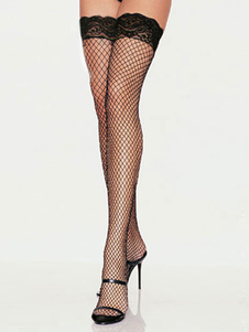Scalloped Trim Fishnet Nylon Woman's Stockings(Buy one get one free)