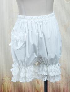 Pantaloncini di cotone bianco bella Lolita