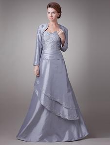 Благородное серебро из тафты возлюбленной онлайн мать невесты платье