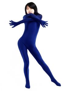 ライクラタイツ ブルー ライクラ・スパンデックス 大人用 フードなし 女性用  ハロウィン