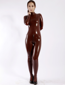 Café unisex Latex Catsuit Halloween