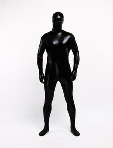 Costume Carnevale Tuta intera Zentai 2020 in metallo nero lucido per unisex