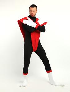 Costume Carnevale Nero rosso Lightcrawler Lycra Spandex Unisex supereroe Costume