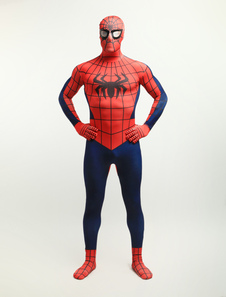 Disfraz Carnaval Halloween Spiderman Zentai Lycra Spandex Super Hero Entero Bodysuit Halloween Carnaval