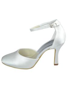 وأشار اصبع القدم سترابي الساتان أحذية الزفاف