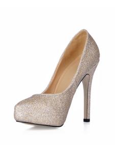 Scarpe con lucenti e tacchi alti da 11cm